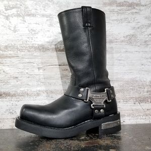 Womens Harley Davidson Motorcycle Harness Boots Sz